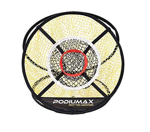 rete da allenamento per il golf, Completo portatile per il golf, per il gioco all'aperto, portatile, colore: nero / giallo, diametro 61 cm.