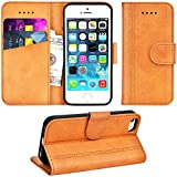 Adicase Coque iPhone 5 Housse Etui Cuir Portefeuille Case pour Apple iPhone 5 / 5S /...