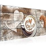 Bilder Kaffee Küche Wandbild Vlies - Leinwand Bild XXL Format Wandbilder Wohnzimmer Wohnung Deko Kunstdrucke Braun 1 Teilig - MADE IN GERMANY - Fertig zum Aufhängen 012812b