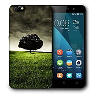 Snoogg single tree on hill Designer Protective Back Case Cover For Huawei Honor 4X