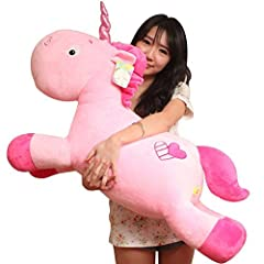 Idea Regalo - KiKa Monkey unicorno peluche morbido cuscino (50cm, Rosa)