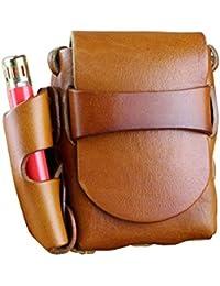 Boshiho® para Hombre Funda de Piel Paquete de Cigarrillos con mechero Soporte