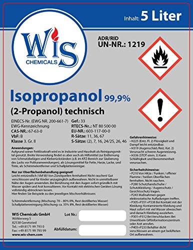 Preisvergleich Produktbild Isopropanol 99,9% technisch rein 5 Liter(1)