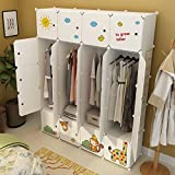 Koossy Erweiterbares Kinderregal Kinder Kleiderschrank für Kinderzimmer (20Türen)