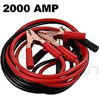 Cables de arranque para baterías de coche o moto, 2000 amperios, 2 metros