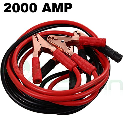 Cavi bipolari cavo avviamento batteria scarica auto moto camper 2000 AMP pinze cavetti 2 met