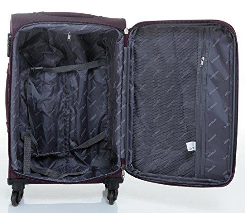 51P 1mUrPGL - Beibye 4ruedas maleta de viaje 8005plástico maletín equipaje Maleta Juego de L XL de m en 5colores (Lila, Juego)