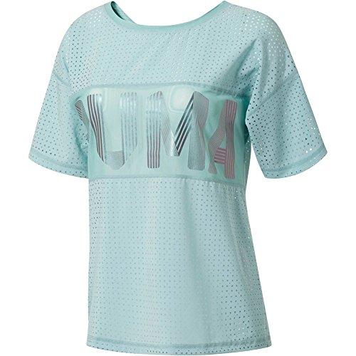 Puma T-Shirt Big Cat Drapey tuquoise Taille: XS (X-Small)