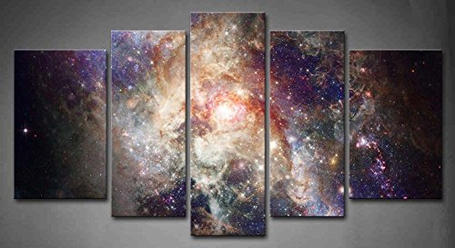 5-panel-wall-art-star-field-in-space-and-a-nebulae-painting-the-picture-print-on-canvas-abstract-pic