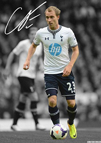 Christian-Eriksen-Tottenham-Hotspur-Autographed-Signed-A4-21cm-x-297cm-Poster-Photo