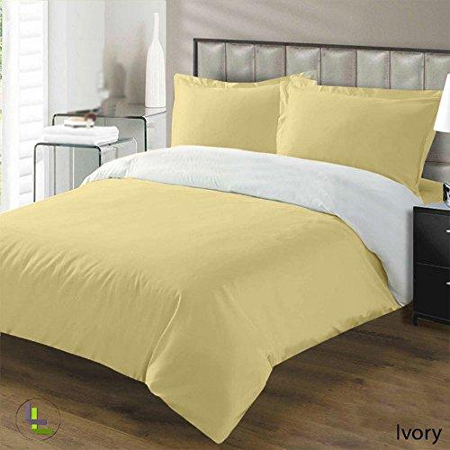 400TC 100% algodón egipcio elegante acabado 3piezas Juego de edredón Reversible sólido,...