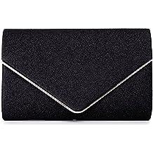7770db33ff712 VINCENT PEREZ Damen Clutch Abendtasche Unterarmtasche Umhängetasche Glitzer  mit abnehmbarer Kette (120 cm) 22