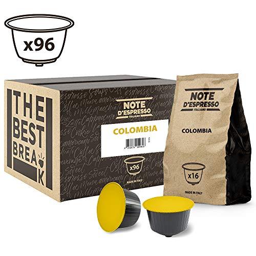 Note D'Espresso - Cápsulas de café de Colombia compatibles con cafeteras Dolce Gusto, 7g (caja de 96 unidades)