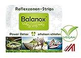Balanox Reflexzonen-Strips Reisepackung | Detox Fuß-Pflaster mit 2fach Wirkung | Vegan | 4 Reflexzonen-Strips + Karte mit 28 Fußreflexzonen