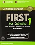 Cambridge English First 1 for Schools for Revised Exam from 2015 Student's Book Pack (Student's Book with Answers and Audio CDs (2)): Authentic ... Language Assessment (FCE Practice Tests) by Cambridge University Press and UCLES (Corporate Author) (18-Sep-2014) Paperback