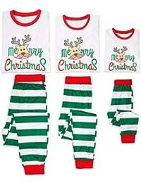 Conjunto de pijamas de la familia Feliz Navidad conjunto de ropa de dormir Conjunto de pijamas de Navidad papá mamá niños bebé