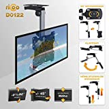 RICOO D0122 Fernseher Deckenhalterung Drehbar Klappbar,  Neigbar Schwenkarm Bildschirm Decken Halterung Dachschräge Fernsehhalterung, VESA 200x200 Vergleich