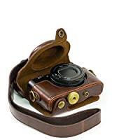 """MegaGear""""Ever Ready"""" Protective Brown Leather Camera Case, Bag for Sony DSC-RX100 RX100 (NOT FOR RX100 M2)"""