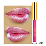 Leey 10 Color Diamond Gloss Rouge à lèvres Womens Magic Glitter Flip Rouge À...