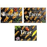 Pack de 3: Bocados, Tiras & Tacos HEURA 180g | 100% Vegetales | Sin Gluten
