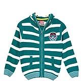 #3: AMERICAN EYE Knitted FULL SLEEVE Regular Fit FULL ZIPPER HOOD BOYS SWEATER 1641-111EMERALD