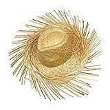 Schramm Onlinehandel S/O Cappello di paglia Hawaii con frange Rafia Cappello di paglia cappelli Hawaii Party