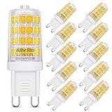 Albrillo 10er Pack 3.5W G9 LED Lampe 400 Lumen, 3000k warmweiß G9 LED Leuchtmittel Ersatz 40W G9 Halogenlampe, 360° Abstrahlwinkel