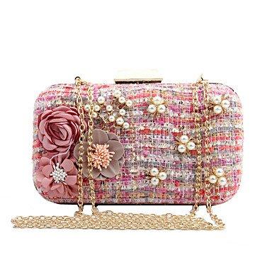 pwne L. In West Woman Fashion Luxus High-Grade Gewebte Blumen Abend Tasche Blushing Pink