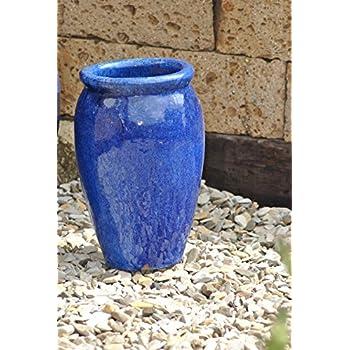 Pflanzkübel,blau,frostfest!!!!!38cm Durchmesser: Amazon.de: Garten