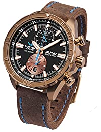 Vostok Europe Almaz Space Station Chronograph Herrenuhr BRONZE 320O266