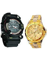 Iconic S-shock Sports Watch Collections Analog Black Dial Men's Watch - BEST COMBO
