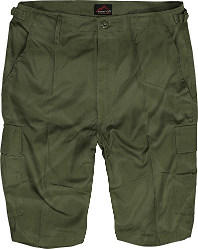 normani US Army Ranger Shorts BDU Cargo kurze Hose in verschiedenen Farben Farbe Oliv Größe M