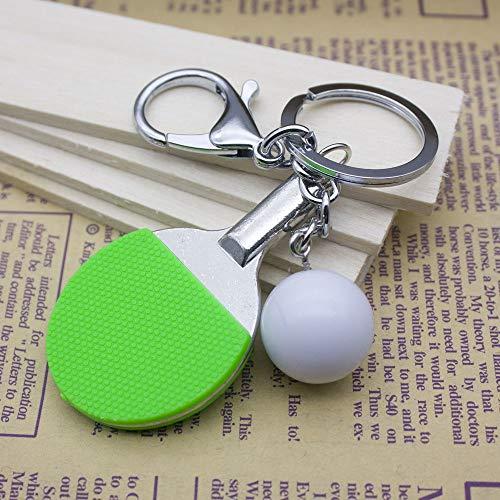 Dfhdfsg niedliche kleine Tischtennis schlüsselanhänger Set tischtennisschläger + Ball grün