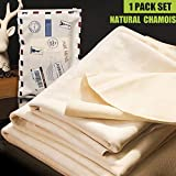 Best UNIQUE The Super Cars - Car Natural Chamois Cleaning Cloth, RIVERLAKE Genuine Deerskin Review