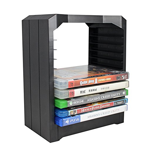 Demiawaking Multifunktionale Universal Spiele & Blu Ray Storage Tower für Xbox One PS4 (Blu-ray-storage-tower)