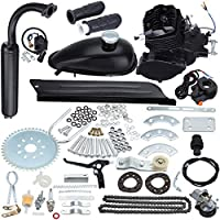 Sange 2 Stroke Pedal Cycle Petrol Gas Motor Conversion Kit Air Cooling Motorized Engine Kit for Motorized Bike (Negro, 50cc)