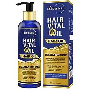 St.Botanica Hair Vital Bioactive Oil With Almond, Jojoba, Rosemary, Olive, Castor, Tea Tree Oil - 200ml
