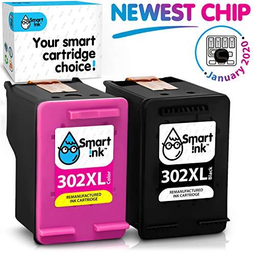 Smart Ink wiederaufbereitete Tintenpatrone als Ersatz für HP 302XL 302 XL 2 Multipack Schwarz & Farbige Patrone hoher Kapazität für Deskjet 1110 1112 3630 3632 Envy 4510 4516 4522 4525 Officejet 4650