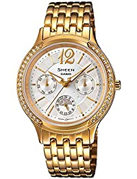 Casio Damen-Armbanduhr XS Chronograph Quarz Edelstahl SHE-3030GD-7AUER