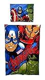 Avengers Bettwäsche-Set, Bettbezug-Set,100% Baumwolle,Decken:140x200cm + Kissen: 70x90cm
