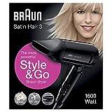 Braun Satin Hair 3 HD350 Style&Go Asciugacapelli da Viaggio agli Ioni
