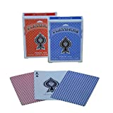 #3: The Ace Card Company Linen Paper Playing Cards (Red and Blue) - Pack of 2