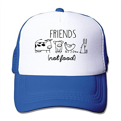 fboylovefor Vegan Vegetarian Animal Lover Statement Rescue Friends Not Food Mesh Adjustable Visor Hats