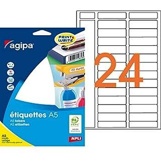 agipa Universal-Etiketten, 15 x 50 mm, wei VE = 1