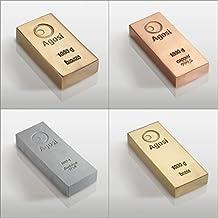 Lote de inversión en metales alternativos: 4 lingotes de 1 kg (bronce, cobre, aluminio y latón) fabricados en refinería alemana de metales preciosos Agosi