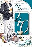 Stecker 40. Geburtstagskarte–40Today Mann mit Bier, Fußball & Gifts 22,9x 15,2cm