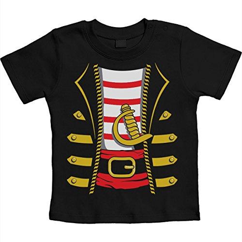 eval und Halloween Kostüm Unisex Baby T-Shirt Gr. 66-93 12-18 Monate / 86 Schwarz (Halloween-kostüm-zertifikate)