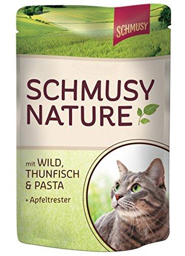Schmusy | Nature mit Wild, Thunfisch & Pasta & Apfeltrester | 24 x 100 g