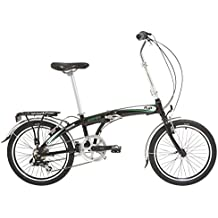 Indigo Flip 7 - Bicicleta plegables,  rueda 20 in, color negro