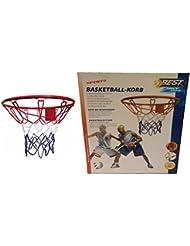 Panier de basket en métal sans Ballon, solides konstr uction dans Officiel Taille avec 45cm Diamètre, complet avec vis de fixation et–Écrous et basketball Adaptateur